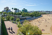 The Piquío Gardens split the Sardinero beach into two parts