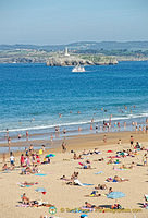 Sardinero beach - view to the lighthouse