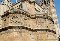 External features of Seville Cathedral