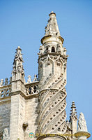 Decorative towers of the Seville Cathedral