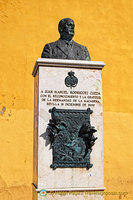 A bust in tribute of Juan Manuel Rodríguez Ojeda