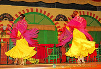Flamenco dancers doing their routine