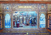Tile panel representing the province of Guipuzcoa