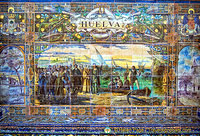 Tile panel representing the province of Huelva