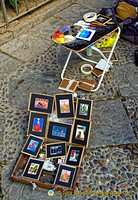 Street artists in Seville