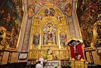 Basilica del Pilar:  Under the altar table is a tomb with remains of the great Bishop of Zaragoza