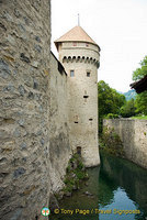 Chillon Castle moat