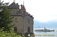 Chillon Castle on the shores of Lake Geneva