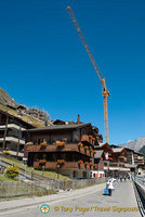 Building works in Zermatt