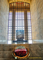 Symbolic sarcophagus of Atatürk's tomb inside the Hall of Honour