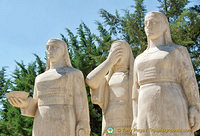 Sculptures symbolizing the pride of Turkish women on the Road of Lions
