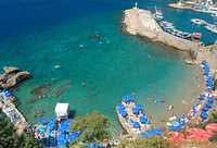 Inner harbour Antalya beach