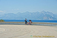 Spectacular views over the Gulf of Antalya, Mount Tahtali and the Beydaglar Mountains