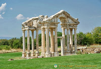 The Tetrapylon is a 2nd century gateway to the Temple of Aphrodite
