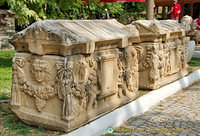Decorated sarcophagi at Aphrodisias