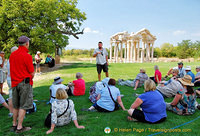 A lecture on Aphrodisias in front of the Tetrapylon