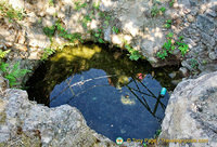 Spring water pond, but unfortunately with litter in it