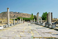 The Sacred Way with view towards Pergamum
