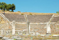 The 3,500 seat Roman theatre at Asklepieion