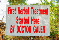 Galen started his first herbal treatment on this spot