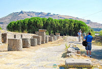 Looking back at Pergamon on the hill