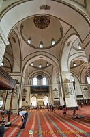Bursa Ulu Camii central hall view