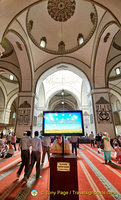 Technology at work at the Ulu Camii.