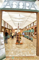 The Agora sells local produce like honey, soaps, essential oils, chocolates, etc.