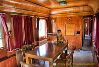Me in the beautiful wood-panelled room of Atatürk's car