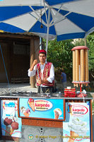 Ice-cream vendor - a common sight in Turkey