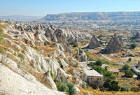 Rock formations and cave houses of Göreme Valley