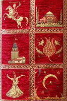 Rug with symbols of Turkey