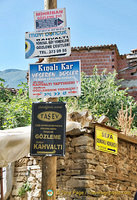 Local business signs in Cumalikizik