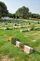 The graves of Indian soldiers are set apart from others, a bit sad!