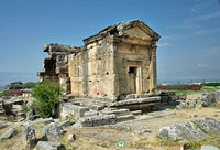 Shaped like a small temple, this lst century AD tomb is one of the best preserved of the North Necropolis.