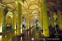 The marble columns of the Basilica Cistern