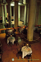 The Cistern Cafe, viewed from the top of the steps