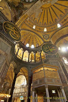 The Sultan's loge inside Hagia Sophia