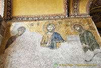 The Deësis mosaic in Hagia Sophia upper galleries