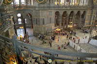 View of Hagia Sophia ground floor, taken from the gallery