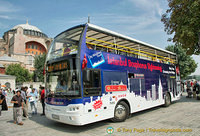 A Istanbul Bosphorus sightseeing bus
