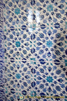 Topkapi Palace Iznik blue tiles