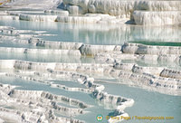 Beautiful travertine hot springs at Pamukkale