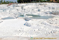 There are 17 hot water springs in Pamukkale