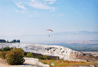Paragliding is certainly a great way to see Pamukkale