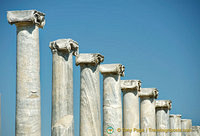 Columns that line the street in Perge