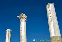 Some columns have interesting engravings of notable Perge personalities