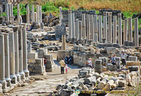 Impressive reconstruction works at Perge