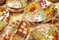 Trays of Turkish delight and other Turkish sweets