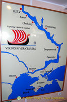 Viking's Dnieper River Cruise route map